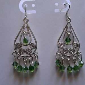 earrings hooks are 925 sterling silver  chandelier